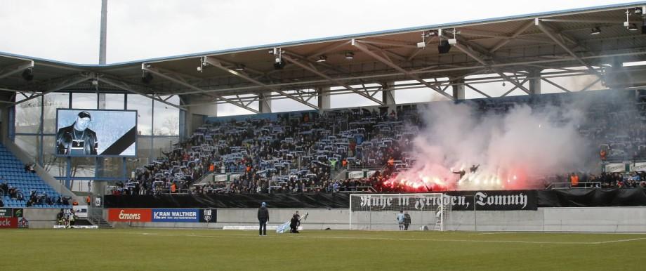 Chemnitz vs VSG Altglienicke 09 03 2019 Chemnitz Stadion an der Gellertstrasse Fussball Regional