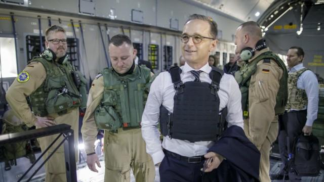 Außenminister Heiko Maas 2019 bei der Bundeswehr in Afghanistan