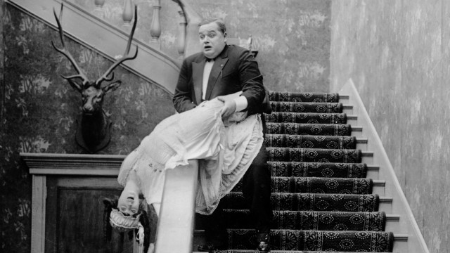 Mabel Normand, Roscoe 'Fatty' Arbuckle, HE DID AND HE DIDN'T, short Triangle-Keystone, 1916, **I.V.