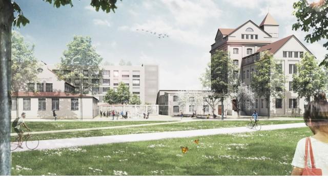 Diamaltplatz Fußgängerperspektive