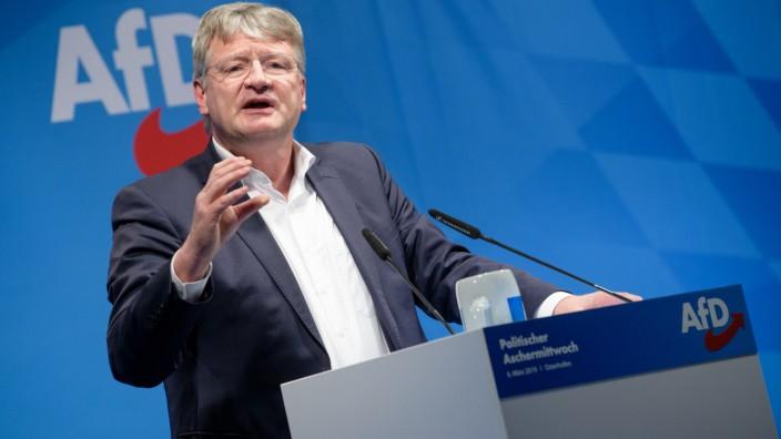 AfD-Vorstandssprecher Jörg Meuthen beim Politischen Aschermittwoch 2019 in Osterhofen