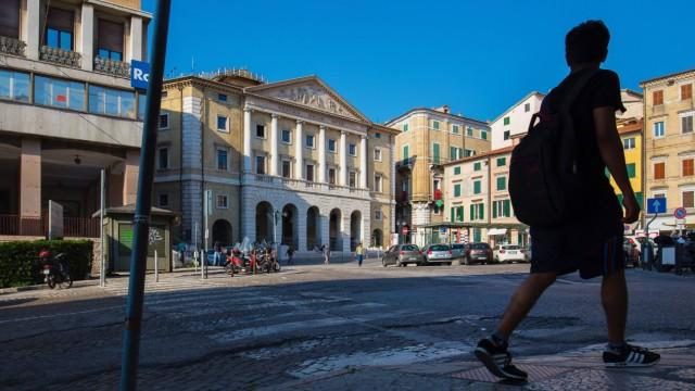 Piazza della Repubblica Teatro delle Muse Ancona Marche Italy Europe PUBLICATIONxINxGERxSUIxAUT