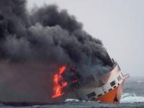 Frankreich - Im Golf von Biskaya verunglückt 2019 das Containerschiff