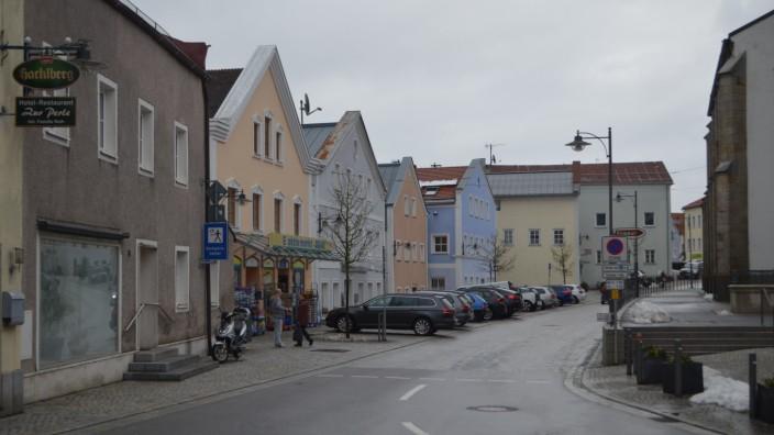 Ortsmitte von Perlesreut in Niederbayern