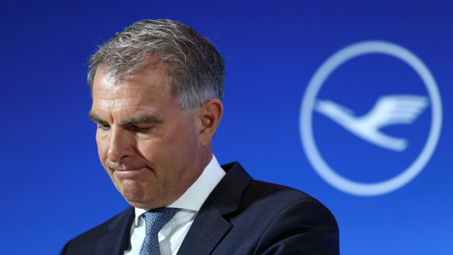 German airline Lufthansa's Chief Executive Officer Spohr attends the company's annual news conference in Frankfurt