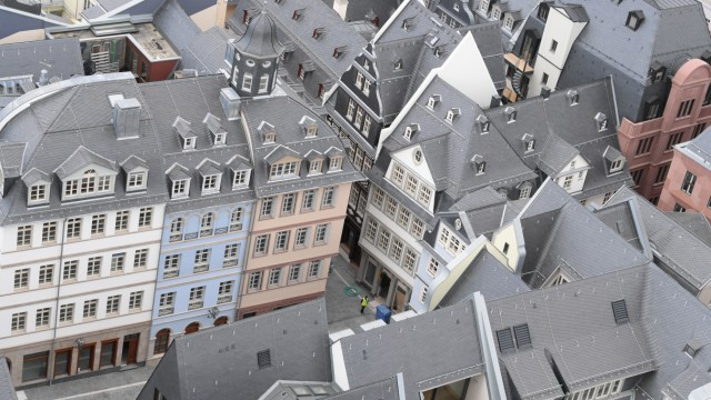 Blick auf die rekonstruierte Altstadt von Frankfurt am Main