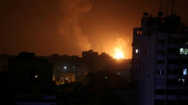 Explosionen im Gazastreifen 2019 nach Vergeltungsangriffen Israels