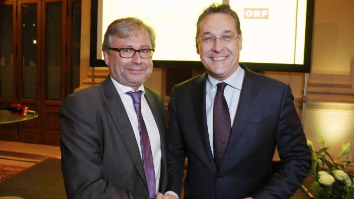 Präsentation der ORF III Dokumentation Baumeister der Republik Franz Dinghofer Präsentation der OR