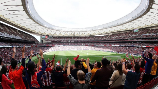 A general view of the Wanda Metropolitano stadium full of spectators the Women s Iberdola League soc; Madrid