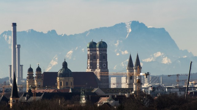 Föhnwetter über Bayern