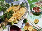 Rezept Frittierter Zander Fisch chinesisch asiatisch Koriander Limette