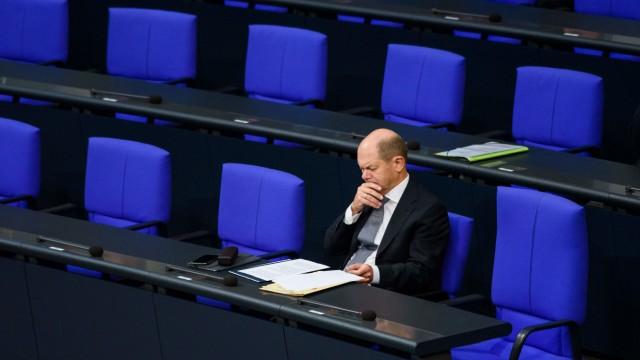 Olaf Scholz im Bundestag