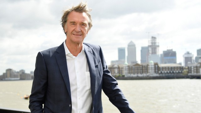 Ratcliffe, CEO of British petrochemicals company INEOS, poses for a portrait with the Canary Wharf financial district seen behind, ahead of a news conference announcing the launch of a British America's Cup sailing team in London, Britain
