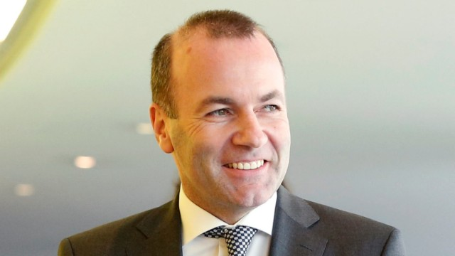 Manfred Weber, the European People's Party's lead candidate in the European Parliament elections arrives to attend the European People Party Political Assembly in Brussels