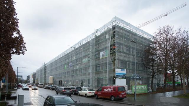 Arri-Zentrale in der Parkstadt Schwabing an der Ecke Herbert-Bayer-/Wilhelm-Wagenfeld-Straße
