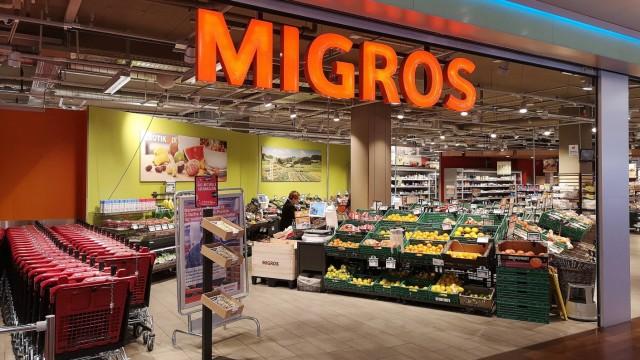 31 01 2019 Aargau SCHWEIZ Logo des Grosshandelsunternehmen Migros *** 31 01 2019 Aargau SWITZERL
