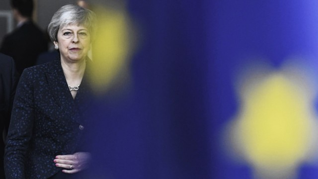 Theresa May Premier ministre britannique NEWS Sommet de l Union Europeenne sur le Brexit Bruxe