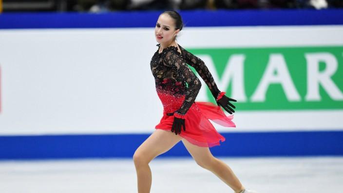 Alina Zagitova RUS MARCH 22 2019 Figure skating Eiskunstlauf ISU World Figure Skating Champi; alina sagitowa