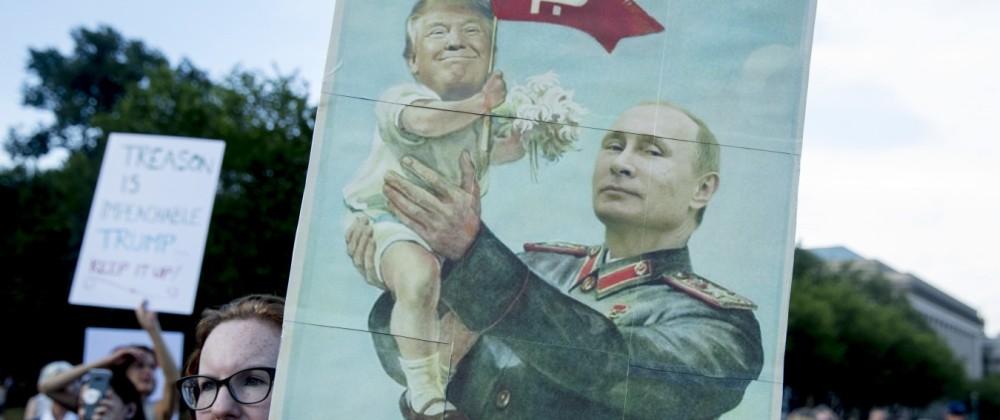Proteste gegen Treffen von Trump und Putin