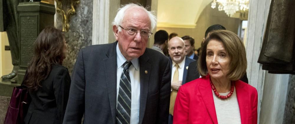 Nancy Pelosi, Bernie Sanders