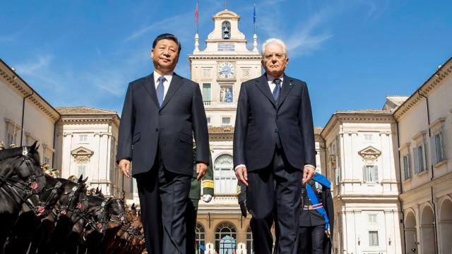 Politik China Chinas Staatschef in Italien