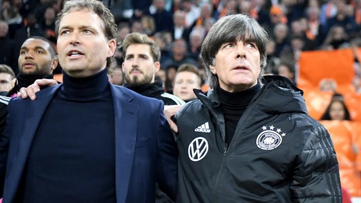 DFB-Bundestrainer Jogi Löw mit Co-Trainer Marcus Sorg 2019 in Amsterdam