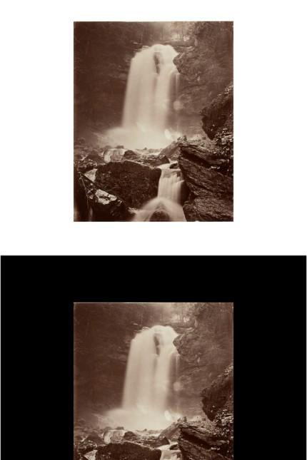 Adolphe Braun Griesbach-Wasserfall bei Brienz, um 1875, Albuminpapier Münchner Stadtmuseum, Sammlung Fotografie Waterfall at Griesbach, Brienz, ca. 1875, albuminized paper Münchner Stadtmuseum, Photo Collection