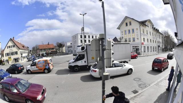 Starnberg Tutzinger-Hof-Platz, Ampelkruzung