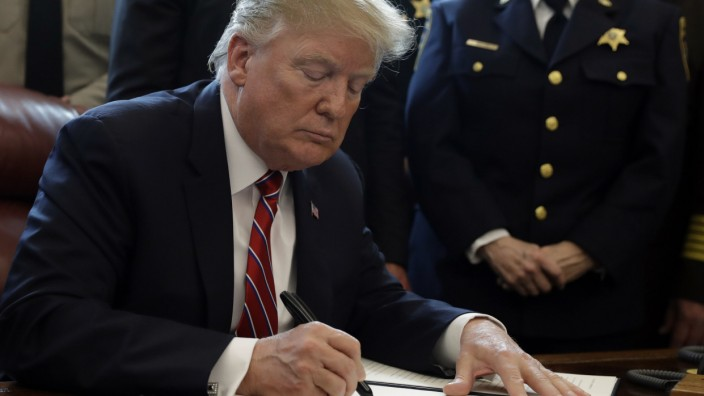 US-Präsident Donald Trump 2019 im Weißen Haus