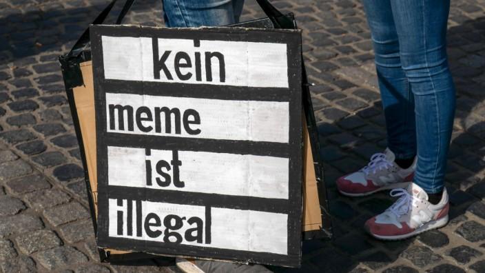Protest gegen neues Urheberrecht - Leipzig