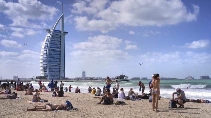 Dubai: Baden am Burj al Arab
