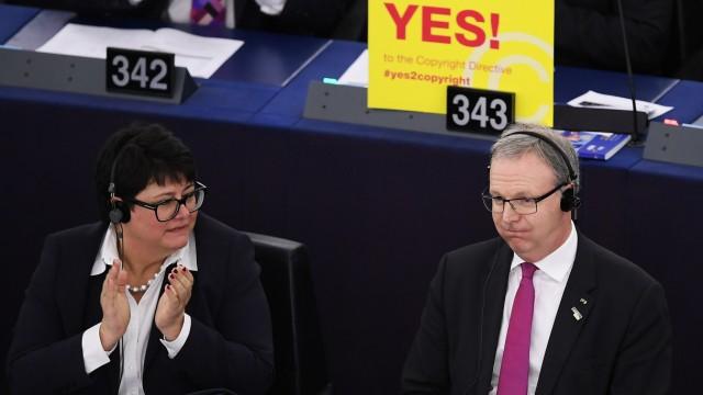 Axel Voss, Urheberrecht, EU-Parlament