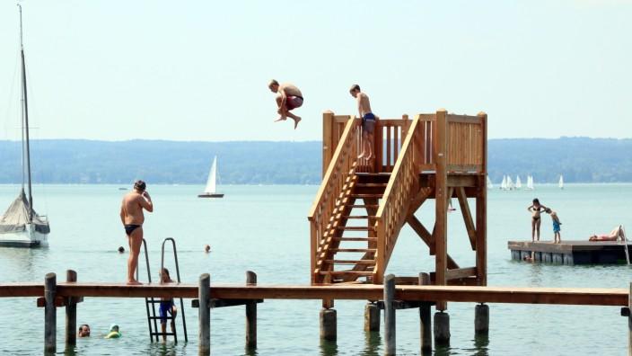 Ammersee Rutsche In Dießen Weg Herrsching Rettet Turm