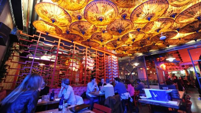 Das Restaurant Enter the Dragon am Lenbachplatz in der Münchner Altstadt