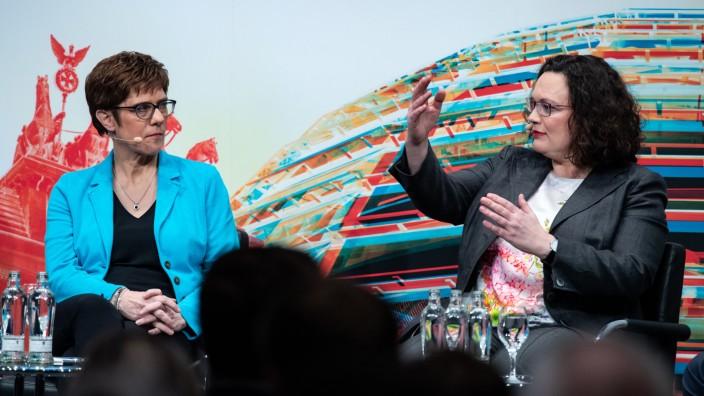 Nahles und Kramp-Karrenbauer bei Politik-Talk