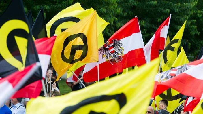 Wien 11 06 2016 Wien AUT Demonstration der Identitaeren Bewegung Oesterreich mit diversen Gegende