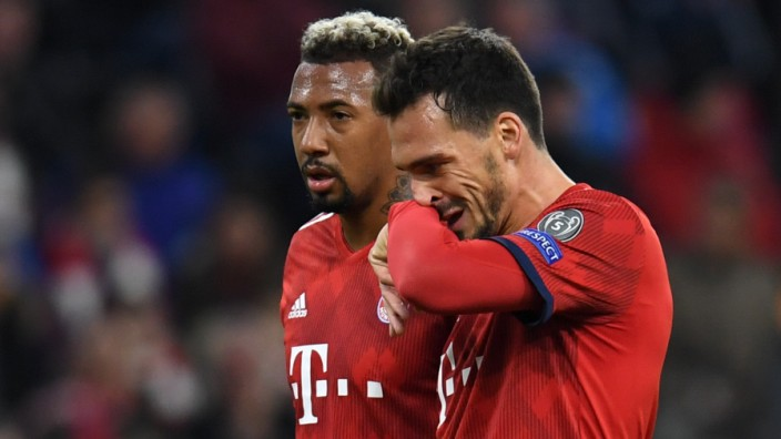 FC Bayern - Abwehrspieler Mats Hummels und Jerome Boateng