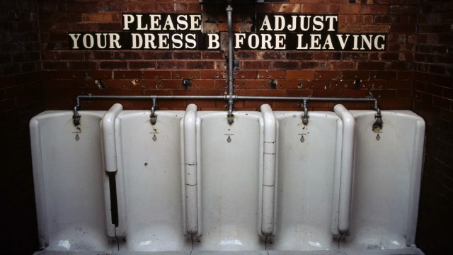 Urinal in men s toilet England PUBLICATIONxINxGERxSUIxAUTxONLY Copyright xDavidxBarnesx xDanitaxDe