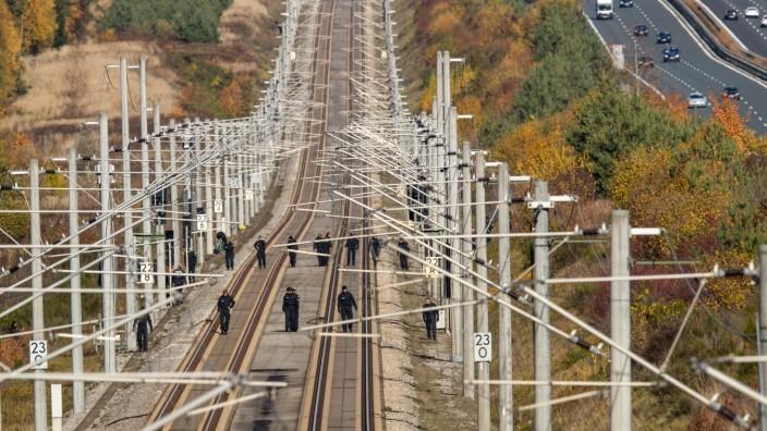 Anschlag auf Bahnstrecken in Bayern