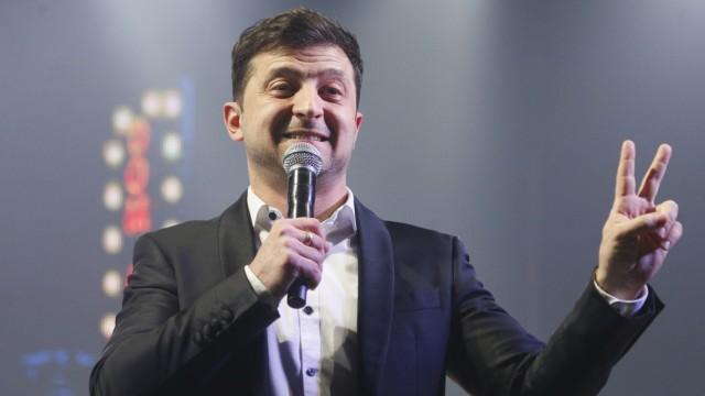 Wolodimir Selensky bei der Moderation einer Comedy-Show