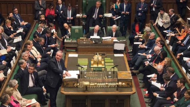 Brexit-Debatte im britischen Unterhaus