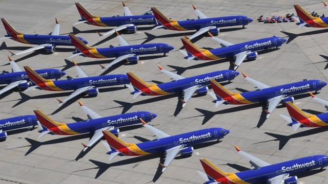 Boeing 737 Max - Flugzeuge der US-Fluglinie Southwest Airlines