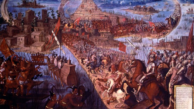 The Conquest of Tenochtitlßn unknown artist from The Conquistadors by Hammond Innes page 142 The
