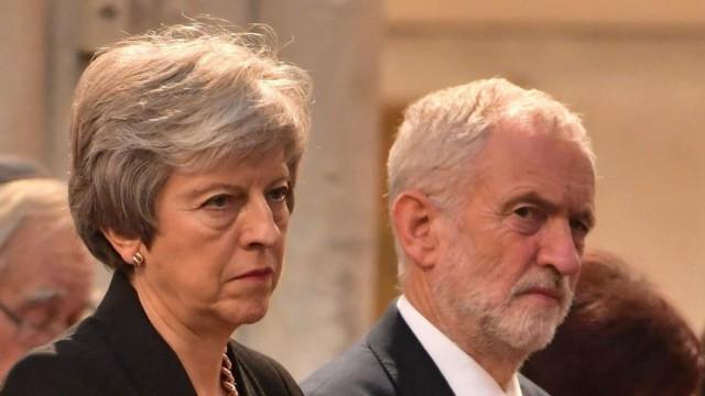Brexit - Corbyn und May
