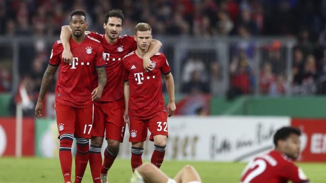FC Bayern - Boateng, Hummels und Kimmich nach dem DFB-Pokalspiel gegen Heidenheim