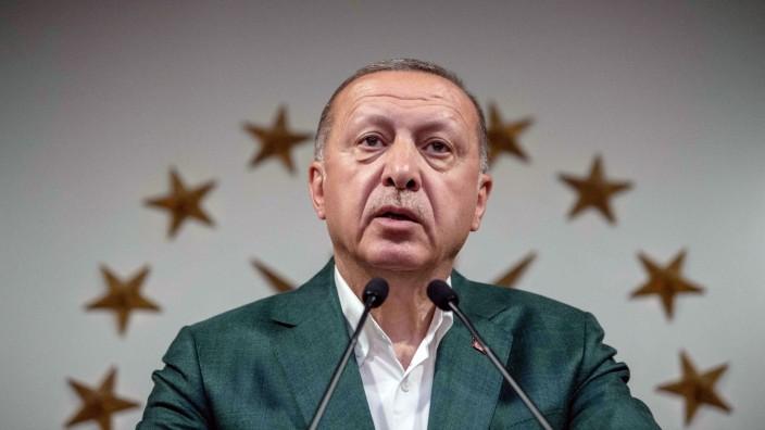 Türkei - Recep Tayyip Erdoğan bei einer Ansprache