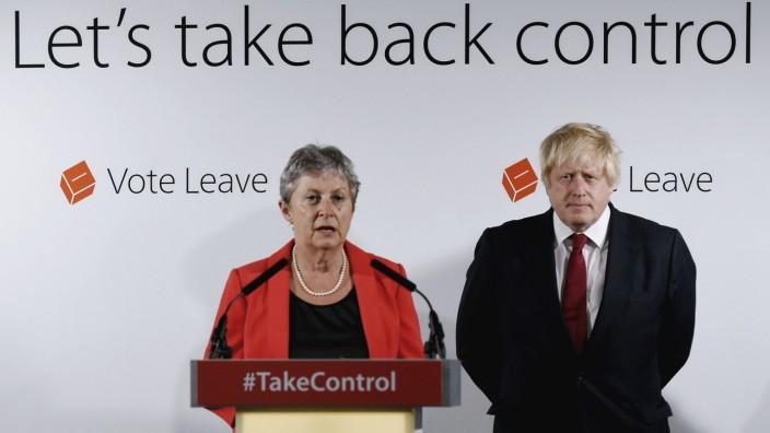 Brexit-Befürworter Boris Johnson und Gisela Stuart 2016 in London