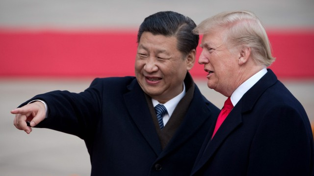 Xi Jinping und Donald Trump in Peking im November 2017