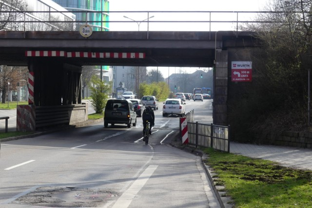 Werinherstraße stadtauswärts Radfahrstreifen Ramersdorf Obergiesing