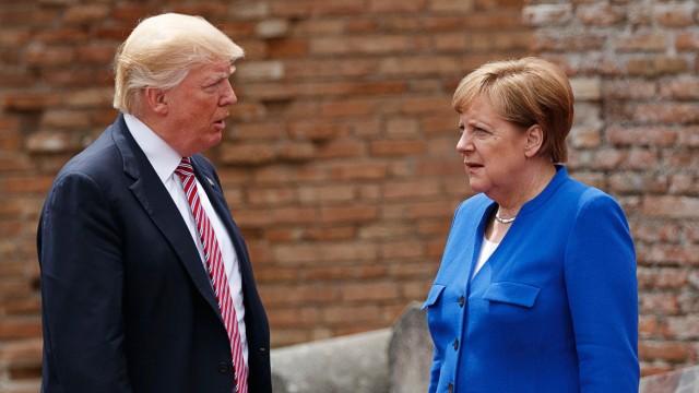 Donald Trump, Shinzo Abe, Angela Merkel, Paolo Gentiloni
